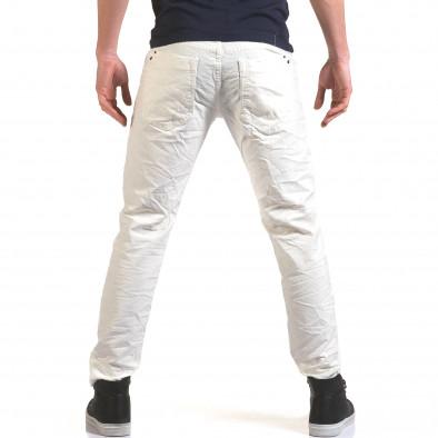 Мъжки бели дънки изчистен модел it090216-24 3