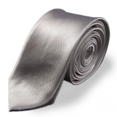 Светло сива изчистена вратовръзка slim fit 060213-2 3