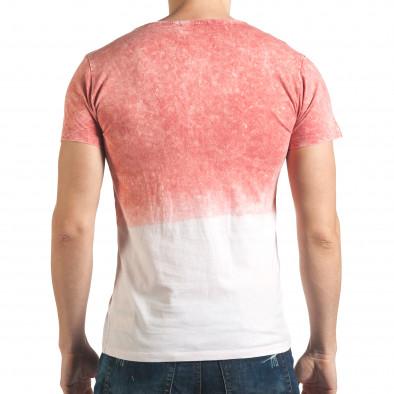 Розова мъжка тениска с надпис il140416-53 3