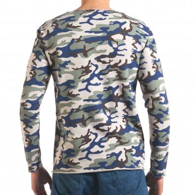 Мъжка блуза бежово-зелен камуфлаж it250416-73 3