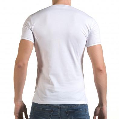 Мъжка бяла тениска Made in USA Click Bomb 4