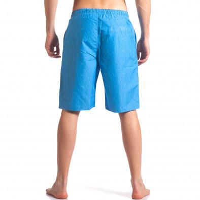 Мъжки сини бански с надпис Austar Jeans 4