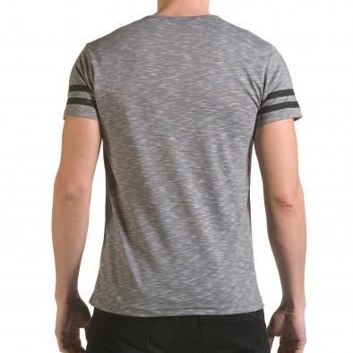 Мъжка сива тениска NYC il170216-4 3