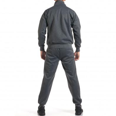 Мъжки тъмно сив спортен комплект с надписи it160916-71 3