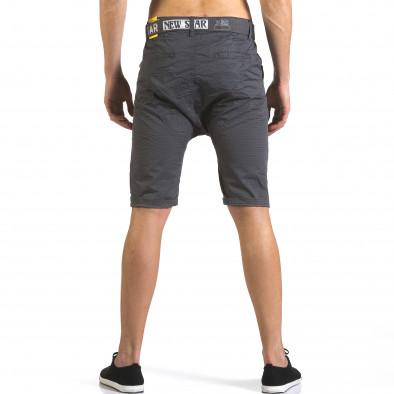 Мъжки сиви къси панталони с колан it110316-44 3