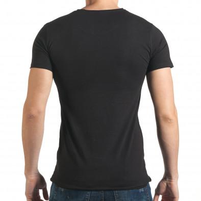 Черна тениска с голям череп отпред il140416-14 3