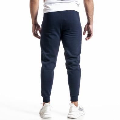 Basic мъжко памучно долнище в синьо it231220-31 3