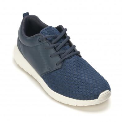 Мъжки сини маратонки олекотен модел it090616-4 3