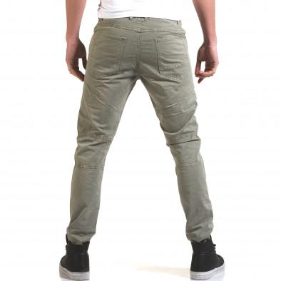 Мъжки сив панталон с хоризонтални шевове Maximal 5