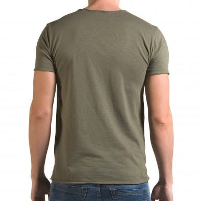 Мъжка зелена тениска изчистен модел it090216-76 3