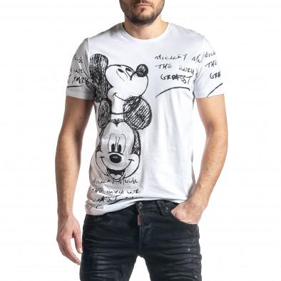 Мъжка бяла тениска Mickey tr010221-7 2