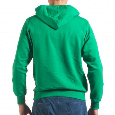 Мъжки зелен суичър с качулка Social Network 4