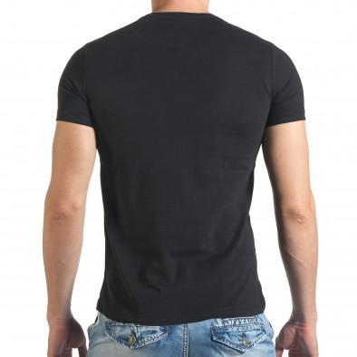 Мъжка черна тениска с голям надпис il140416-42 3