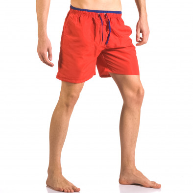 Мъжки червени бански шорти с връзки на кръста ca050416-27 4