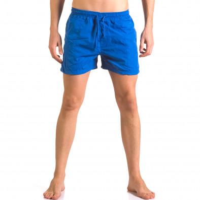 Мъжки сини бански тип шорти с джобове отпред Parablu 5