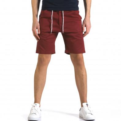 Мъжки червени къси панталони с връзки it110316-38 2