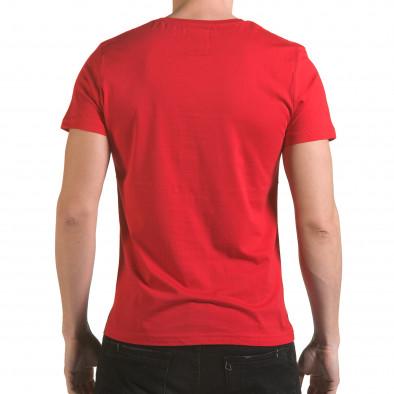 Мъжка червена тениска със синя долна част il170216-13 3