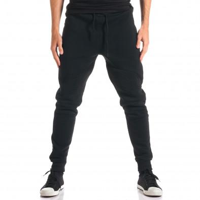 Мъжки черни потури с ципове на джобовете ca280916-11 2