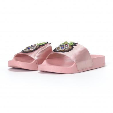Розови дамски чехли с ананас it230418-36 3
