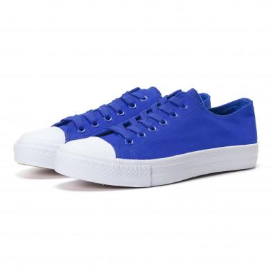 Мъжки сини кецове изчистен модел it250118-1 2