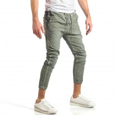 Мъжки зелен лек панталон на малки точици it290118-3 3