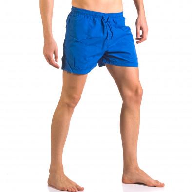 Мъжки сини бански тип шорти с джобове отпред ca050416-16 4