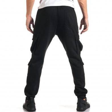 Мъжки черни потури с джобове на крачолите it160916-24 3