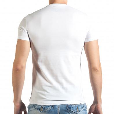 Бяла тениска с голяма щампа на Bob Marley Just Relax 4