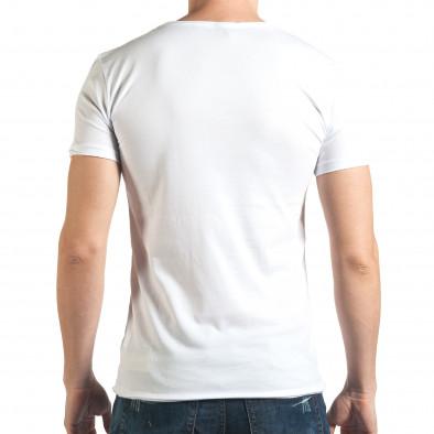 Бяла тениска с голям череп отпред il140416-13 3