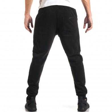 Мъжко черно долнище с нестандартни джобове it160916-42 3