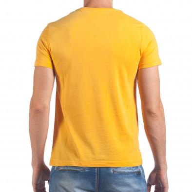 Мъжка жълта тениска Live Fast Die Last il060616-15 3