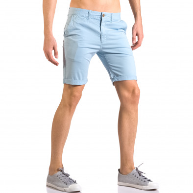 Мъжки сини къси панталони с италиански джобове ca050416-61 4