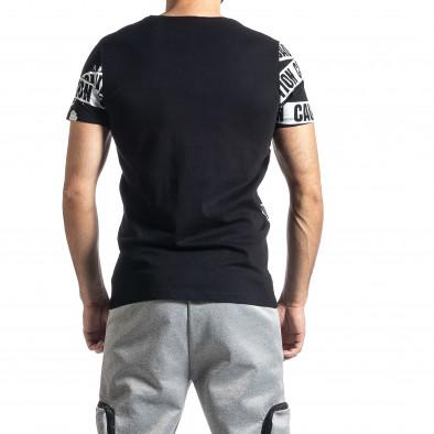 Мъжка тениска Caution в черно tr010221-10 3