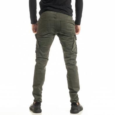 Мъжки зелен Cargo панталон с прави крачоли tr300920-8 3