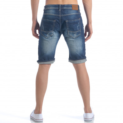 Мъжки къси дънки с метални детайли it050617-34 3