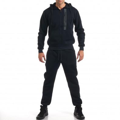 Мъжки син спортен комплект с декоративни ципове it160916-54 2