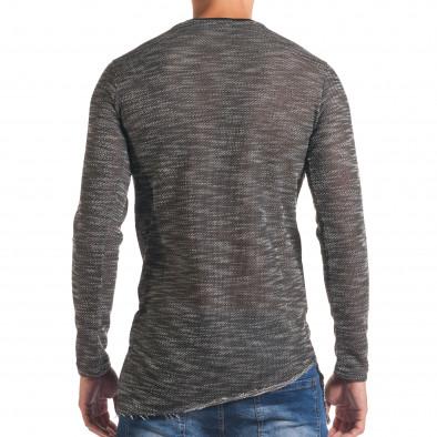 Мъжка тъмно сива блуза с черни части it180816-1 3