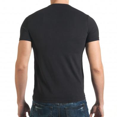 Мъжка черна тениска с гъзарски надпис отпред Millionaire 4