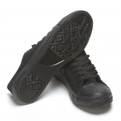 Мъжки черни ниски кецове с изчистени дизайн 110416-4 4