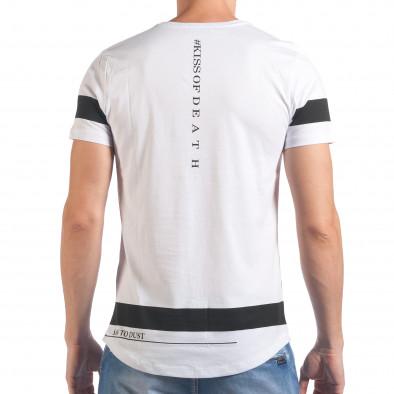 Мъжка бяла тениска Saw to Dust il060616-21 3