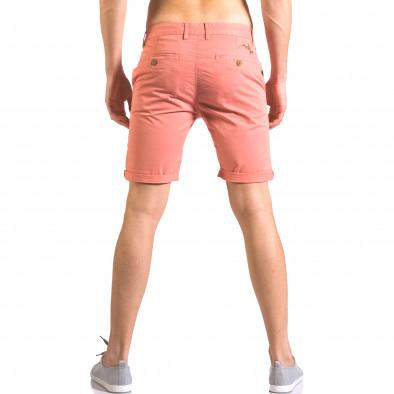 Червени мъжки къси панталони с италиански джобове ca050416-60 3