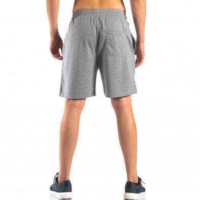 Мъжки сиви шорти с емблема it160616-4 3