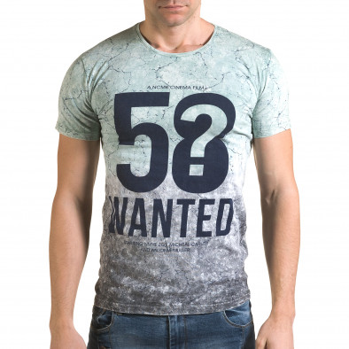 Мъжка зелено-сива тениска 58 Wanted il120216-57 2