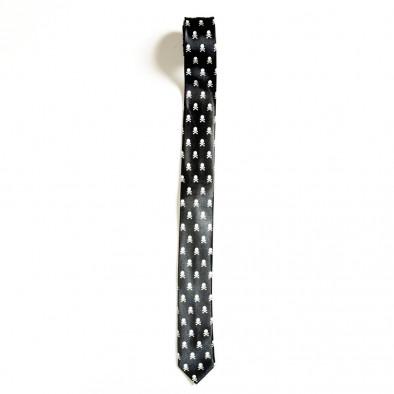 Slim fit вратовръзка с черепи и кости Fashionmix 4