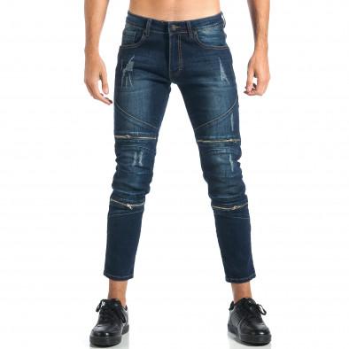 Мъжки дънки с декоративни ципове it260917-72 2