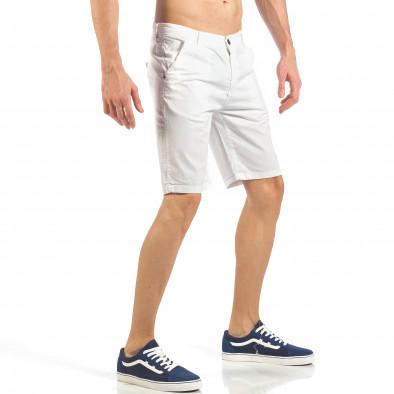 Мъжки бели къси панталони it260318-130 3