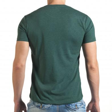 Зелена тениска с щампован голям надпис il140416-46 3