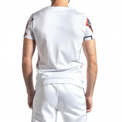 Мъжка бяла тениска Thunder tr010221-19 3