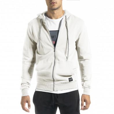 Basic мъжки суичър в бяло tr160221-2 2
