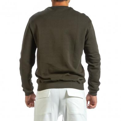 Милитъри зелена блуза с принт it091219-18 3